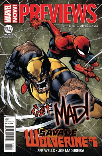 April 2013 Marvel Previews - Mail Order Comics