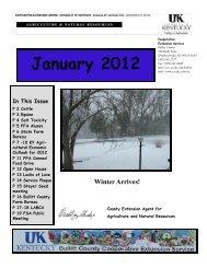 2012 January Newsletter - Bullitt County Cooperative Extension ...