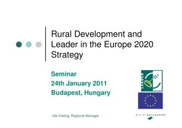 Rural Development and Leader in the Europe 2020 Strategy