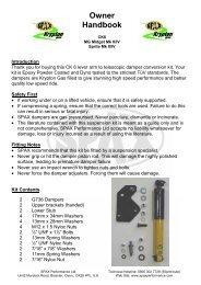Spax CKX Rear Lever Arm Conversion Kit