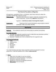 B2U3 Digestion Notes