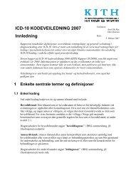 ICD-10 KODEVEILEDNING 2007 Innledning - KITHs