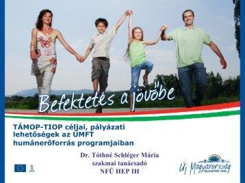 TaMOP-TIOP: célok és pályázati lehetőségek - Magyar Nemzeti ...