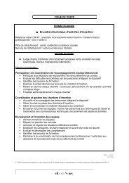 Intitulé du poste Encadrant technique d'activités d'insertion