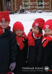 Winter Newsletter 2010 - Ockbrook School
