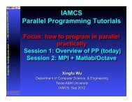 Parallel Programming - TAMU Computer Science Faculty Pages ...