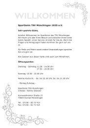 Speise- und Getränkekarte - Sportheim Restaurant
