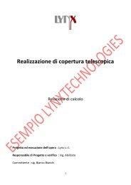 Relazione Tecnica strutturale - Lynx Coperture telescopiche per ...