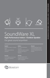 SoundWare XL - Boston Acoustics