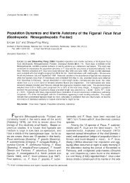 Population Dynamics and Mantle Autotomy of the Figsnail Ficus ...