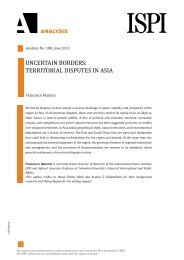 UNCERTAIN BORDERS: TERRITORIAL DISPUTES IN ASIA - Ispi
