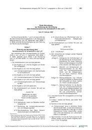 Erste Verordnung zur Änderung der Zweiundzwanzigsten ...