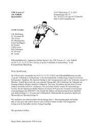 Hallenturnier VFR Evesen - TSV Eintracht Exten