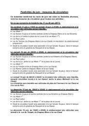Festivités de juin : mesures de circulation - Lokale Politie