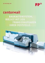 Prospekt CentorMail - Francotyp Postalia