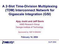 A 2-Slot Time-Division Multiplexing (TDM) Interconnect ... - SLIP