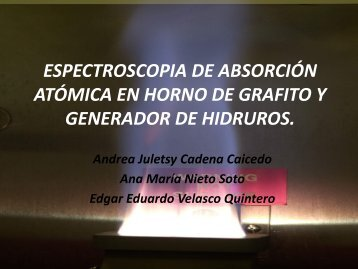 espectroscopia de absorción atómica en horno de grafito y ...