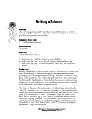 Striking a Balance - Forces of Change
