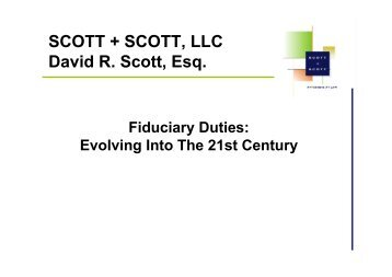 Evolving Fiduciary Duties