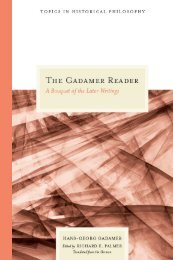 Gadamer Reader : a Bouquet of the Later Writings