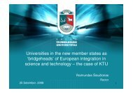 Universities in the new member states as - Conference of Rectors ...