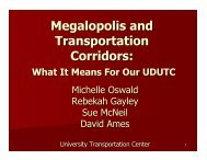 Megalopolis and Transportation Corridors: What it Means for our ...