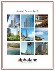 Annual Report 2011 - Alphaland Corporate