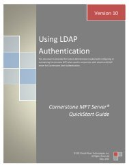 Using LDAP User Authentication in Cornerstone - South River ...