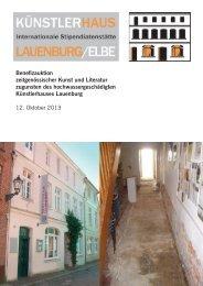 Benefizauktion zeitgenössischer Kunst und Literatur - Künstlerhaus ...