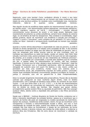 Artigo - Escritura de União Poliafetiva: possibilidade - Por ... - Recivil