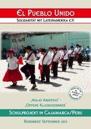 Der aktuelle Rundbrief vom Herbst 2013 - El Pueblo Unido