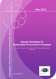 Sample Templates for Sustainable Procurement Processes May 2013