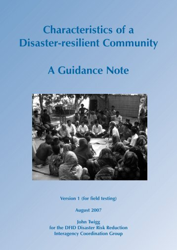 Characteristics of a Disaster-resilient Community A ... - PreventionWeb