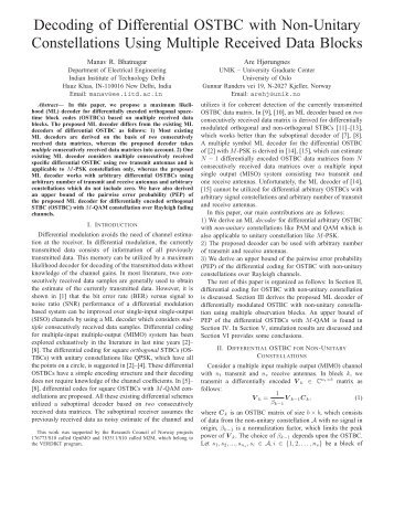Decoding of Differential OSTBC with Non-Unitary ... - Unik