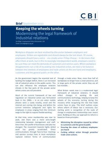Read the full policy brief (pdf) - CBI