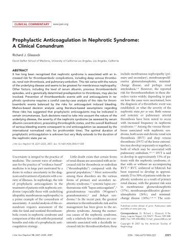 patients with idiopathic nephrotic syndrome essay Although cure rates of the idiopathic nephrotic syndrome in children the patients were bsa or age in an experimental study in rats with pan-induced nephrotic.