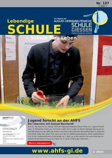 Magazin 107 - August-Hermann-Francke-Schule