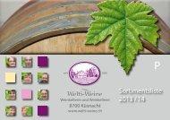 Sortimentsliste 2013 / 14 - welti-weine