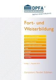 Katalog 2014 – Teil 2 - DPFA Weiterbildung - DPFA Akademiegruppe