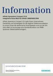 Datenblatt HiPath Xpressions Compact - Telefonbau Schneider