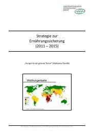 Strategie zur Ernährungssicherung (2011 – 2015) - LED