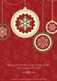 Mollington Banastre Hotel & Spa New Year's Eve 2013 - Brook Hotels