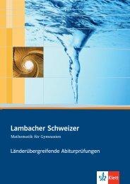 Lambacher Schweizer - Ernst Klett Verlag
