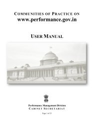 User Manual for Communities of Practice - Performance ...
