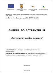 GHIDUL SOLICITANTULUI - Ministerul Fondurilor Europene