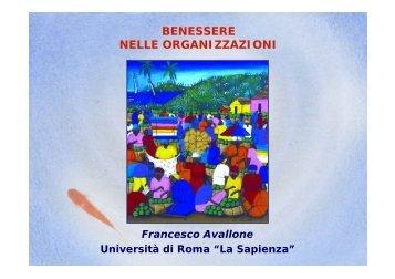 prof. F. Avallone - Comune di Modena