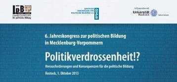 Programm - Landeszentrale für politische Bildung Mecklenburg ...