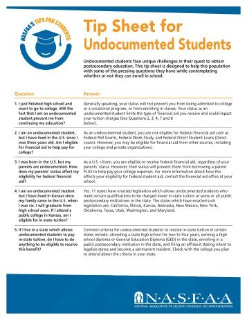 For Undocumented Students - Blackhawk Technical College