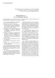 Bekendtgørelse af lov om Danmarks Statistik