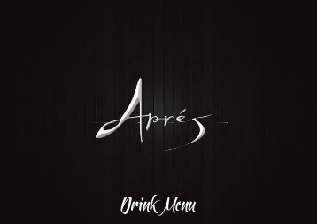 Drink Menu - Après London
